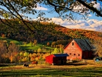 Sunset at Maple Grove Farm, Vermont, New England