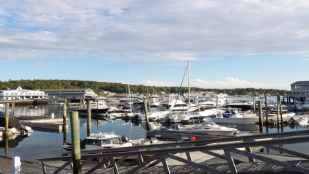 Boothbay Harbor, Maine - water, sky, Maine, ocean