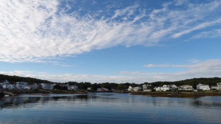 Boothbay Harbor, Maine - water, clouds, ocean, Maine, sky