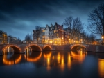 Amsterdam, Holland at Night