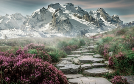 unknown Place - path, mountain, art, fantasy