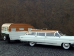 1956 Lincoln Pioneere Station Wagon with Travel Trailer