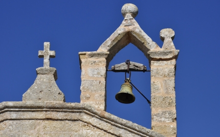 Old Bell Tower - bell, church, cross, tower, old