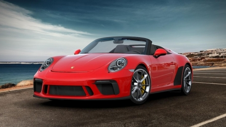 2019 ..Porsche 911..Speedster - german, red car, fast, porsche