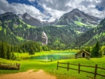 Beautiful Scene from the Gstaad Region of Switzerland