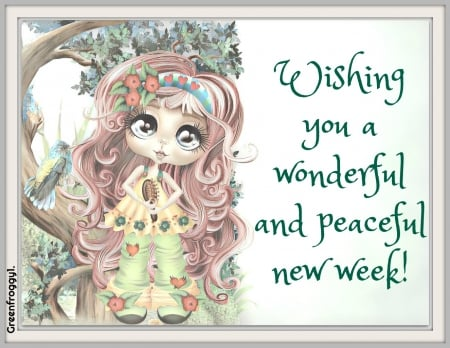 WONDERFUL WEEK - WEEK, COMMENT, WONDERFUL, CARD