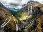 Winding Road through a Fjord