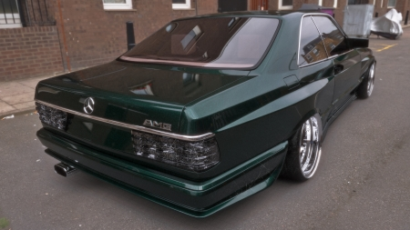 MERCEDES SEC WIDEBODY - vray, timeless, w126, mentalray, c126, hdri, old, tuning, panorama, green, sec, mercedes, photoshop, 3dsmax