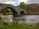 Ancient Bridge at Llanrwst, Wales