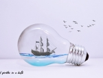 A ship of pirates in a bulb