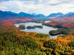 Autumn at Adirondacks region of NY