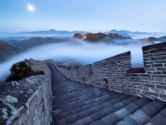 Foggy Day on the Great Wall of China