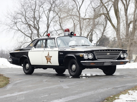 1963 chrysler newport police car - police, newport, car, chrysler