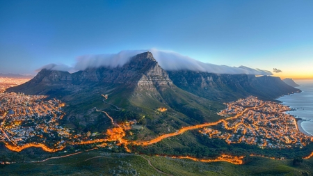 Cape Town - mountain, Cape, Nature, town