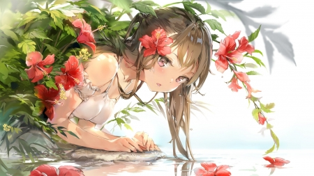 Anime - art, original, cg, Anime, girl