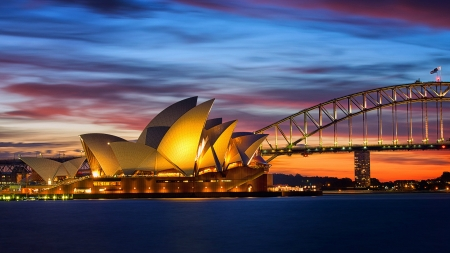 sydney opera house - house, sydney, harbour, opera, bridge