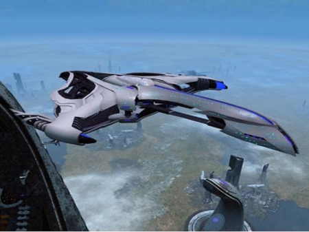 Romulan Dyson Science Ship - Romulan Starship, blue, 2020, STO