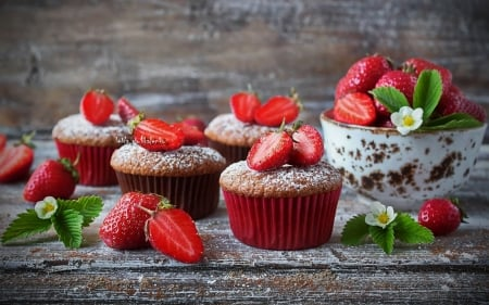 Strawberries and Muffins