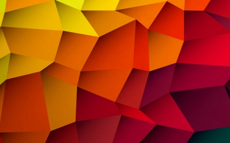 From Yellow to Red - yellow, orange, abstract, vector, red