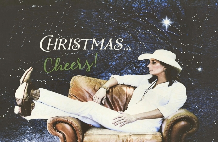 Christmas Cowgirl - Terri Clark, cowgirls, Christmas, brunettes, hats, boots