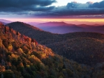 East Fork Overlook on the Blue Ridge Parkway, North Carolina