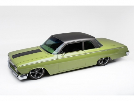 1962-Chevrolet-Biscayne - Gm, Bowtie, Green, Clasic