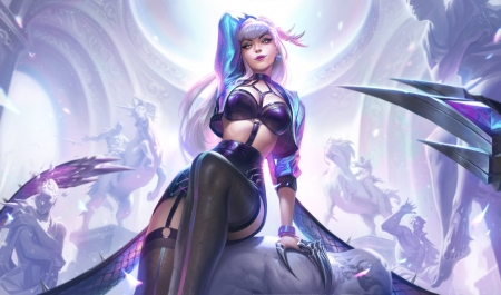 League of Legend - art, games, warrior, woman