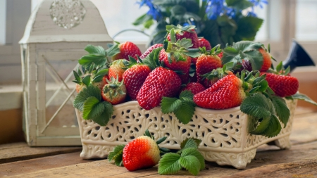 Strawberry - red, food, strawberry, fruits