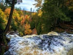 Autumn Colors at Laughing Whitefish Falls, Michigan
