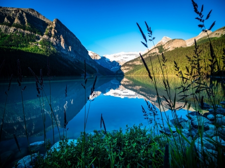 Lake Louise, Canada - water, alberta, reflections, mountains
