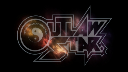 Outlaw Star - typography, outlaw star, anime, space