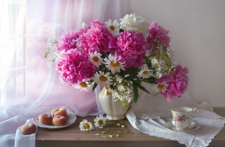 ♥ - flowers, vase, soft, abstract