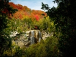 Eugenia Falls amongst the fall colours of Ontario, Canada