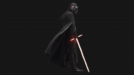 Kylo Ren - Star Wars - The Rise of Skywalker - weapon, Kylo Ren, star wars, fantasy, black background, light saber