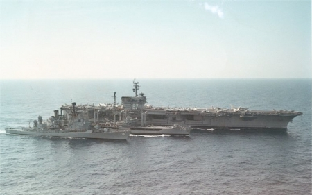WORLD OF WARSHIPS JFK BATTLE GROUP RAS OPERATION (REPLENISHMENT AT SEA)