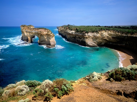 london bridge - australia, cliff, arch, ocean