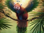 Winged red panda