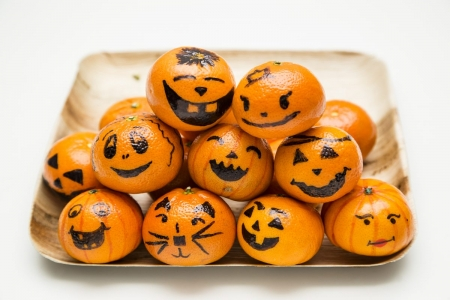 Happy Halloween! - orange, pumpkin, halloween, fruit, deco, decor