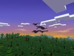 Crows Fly Above Green Forest in Best Free Minecraft Clone - Realmcraft