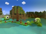 Slime Party in Forest in RealmCraft Free Minecraft Clone