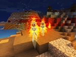 Skeletons On Fire !! in Free Minecraft Clone Game Realmcraft