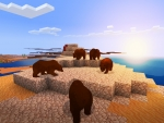 Brown Bears in Desert || RealmCraft Free Minecraft Clone