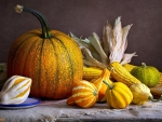 Pumpkins and Corns