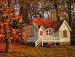 cottage in the fall