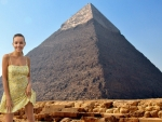 Katya Clover at the Pyramids of Gaza