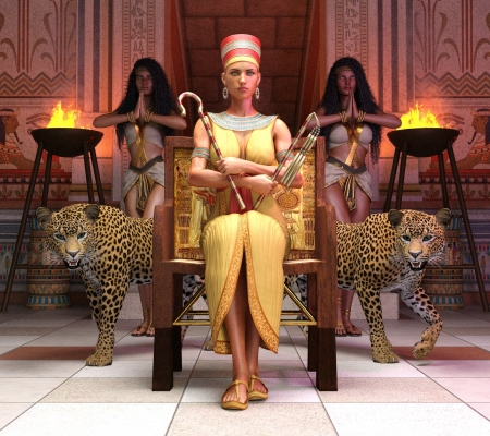 The Queen's Throne Room - throne, leopard, epic82, fantasy, cheetah, queen, room
