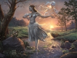 The spectrum and the frogs by Adrien Gonzalez