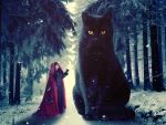 Red Riding Hood and the Big Black Cat