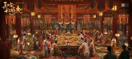 The banquet - art, festival, polaris workshop, frumusete, fantasy, luminos, people, banquet