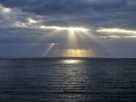 Sunbeams over Sea